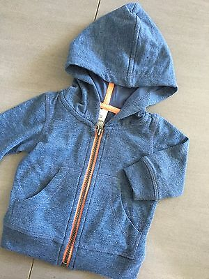 Size 0-3M (000) ~ TINY LITTLE WONDERS ~ Zip Front Hoodie / Jumper ~ AS NEW!