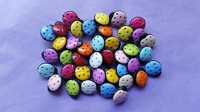 Novelty Buttons - Ladybirds - So Cute!