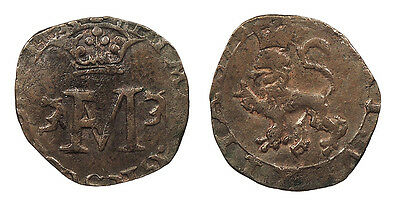 SCOTLAND Mary, Queen of Scots 1542-1567 Lion ('hardhead'=1-1/2 pence) 2nd Period