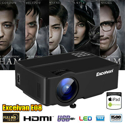 WIFI 3D 1080P 3000Lumens Android Projector Home Theater Cinema DLP HDMI VGA HD