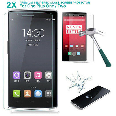 2Pcs 9H Real Premium Thin Tempered Glass Screen Protector Film For Oneplus 1/2/3