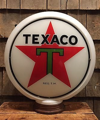 Vintage Original TEXACO Gas Service Station Capco Milk Glass Pump Globe Sign