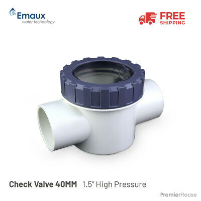 """Emaux Check Valve 40MM / 1.5"""" High Pressure"""