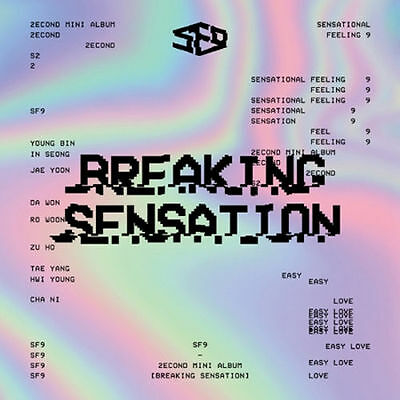 SF9 - [Breaking Sensation] 2nd Mini Album CD+Fotobuch+Fotokarte Kpop Sealed