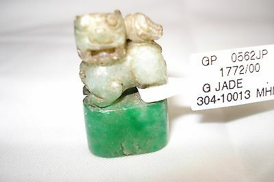 Jade Lion stamp chop seal pendant