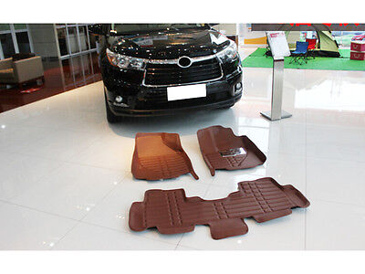 New quality Car Inner Foot Mat Pads Cover 5 Seat For Toyota Highlander 2015