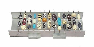 AMACO POLYMER CLAY BEAD BAKING RACK - with 20 metal piercing pins