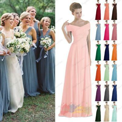 New Long Chiffon Evening Formal Party Ball Gown Prom Bridesmaid Dress Size 8~26