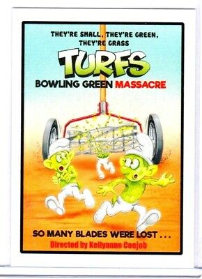 "2017 Wacky Packages ""TURFS BOWLING GREEN MASSACRE"" #30 Network Spews"