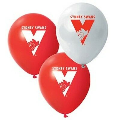 Sydney Swans Afl Team Logo Pack Of Six 6 Balloons