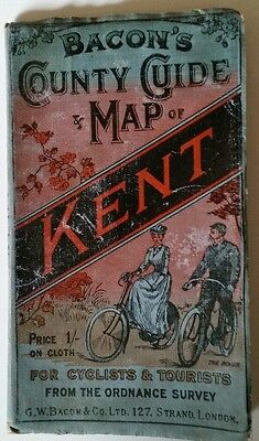 Bacon's County Guide and Map of Kent for Cyclists & Tourists