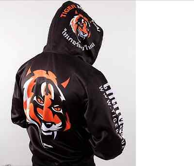 MMA Hoodie Tiger Men Muay Thai Fighting Zipper Hoodie Jacket Jumper Suit Hombre