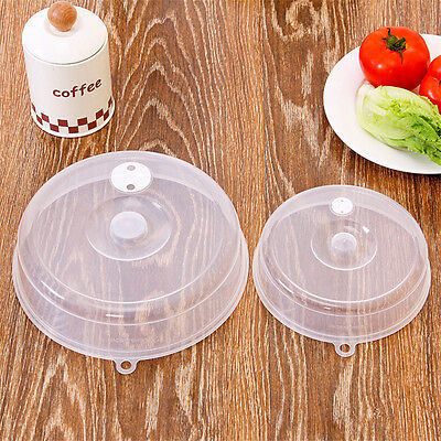 Microwave Plate Cover Vent Holes Plastic Dish Lid Safe Nontoxic Anti-Splatter