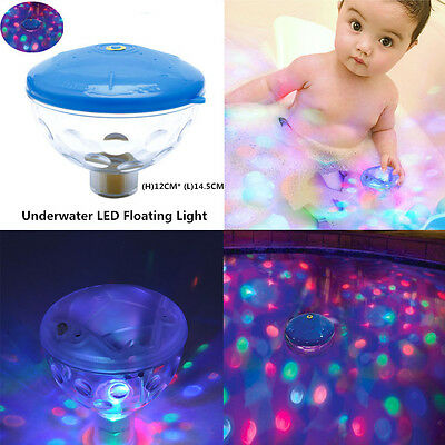 Underwater 7 LED Floating Disco Lights Show Bath Swimming Pool Hot Tub Spa Party