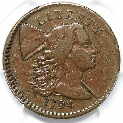 1794 S-64 R-5- PCGS VF 25 No Fraction Bar Liberty Cap Large Cent Coin 1c