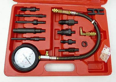 12pc Diesel Engine Compression Pressure Test Kit Universal Tool Set