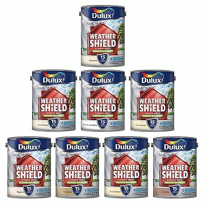 Weathershield Smooth Exterior House Paint 15 Year Guarantee UV Resistant | 5L