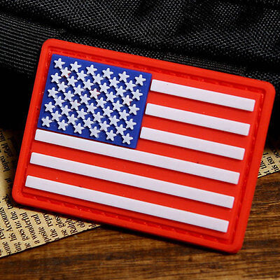 Tactical PVC USA US Flag 3D Army Rubber Badge Morale American  Military Patch