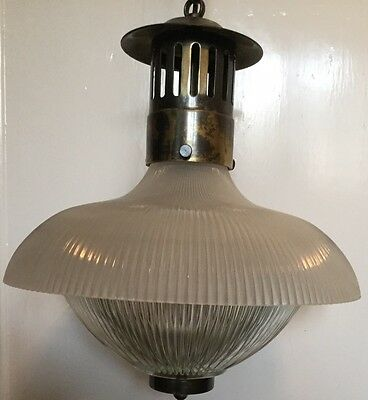 Vintage Holophane Style Light Fittings (Set of 5)