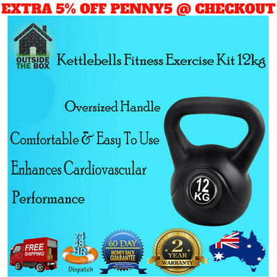 Kettlebell Kettle Bell Gym Strength Dumbbells Iron Weight 12kg Fitness New Lift