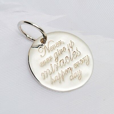 40% SALE! Genuine Palas Sterling Silver Never Give Up Charm 3528 RRP $44