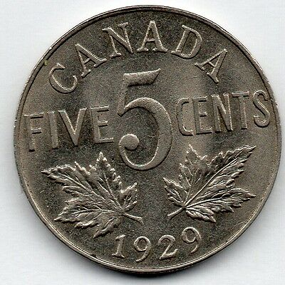 Canada 5 Cent 1929 (Nickel) Coin
