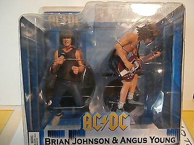Ac/dc Boîte Set Brian Johnson & Angus Young Action Figurine 2 Pack Deluxe