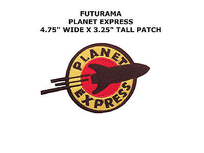 FUTURAMA Planet Express Iron Sew On Embroidered Patch Badge Costume Fancy DressA