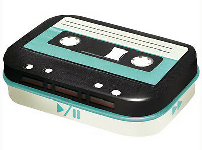 Retro Tin Metal Pill Box 'AUDIO CASSETTE TAPE' filled with Mints 6 x 4cm