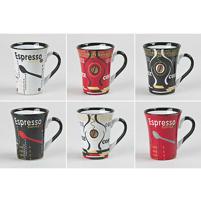 Coffret 6 Tasses Espresso Coffe 15Cl Assorties