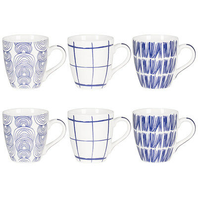 Coffret 6 Tasses Kashmir Bleu Assorties