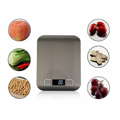 LCD Display Digital Electronic Scales Stainless Steel High Precision HouseholdWS
