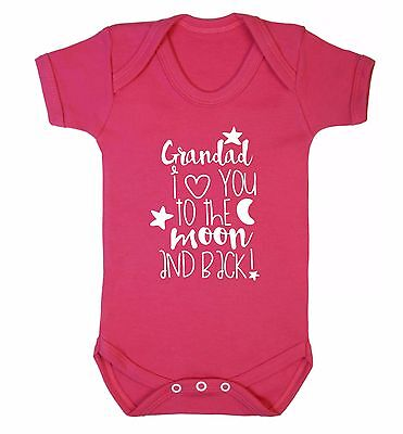 Grandad I love you to the moon and back baby vest Father's Day grandchild 3426