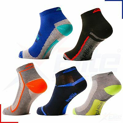 Mens Sport Trainer Gym Ankle Socks Striped Cotton Blend 3, 6, 9, 12 Pairs