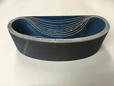 """QTY:10 Silicon Carbide 3"""" X 24"""" 80 Grit Wet Dry Sanding Belt USA SHIPPING"""