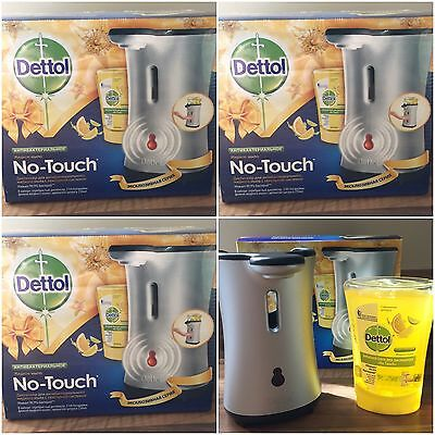 4 x DETTOL NO TOUCH HAND WASH SYSTEM - SILVER DESIGN - WITH 250ml CITRUS REFILLS