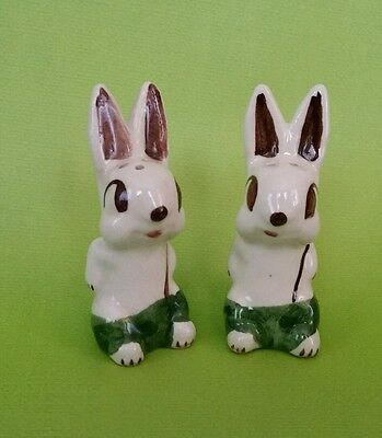 Vtg Bunny Salt & Pepper * Shawnee * Rare *  Easter Rabbit * USA