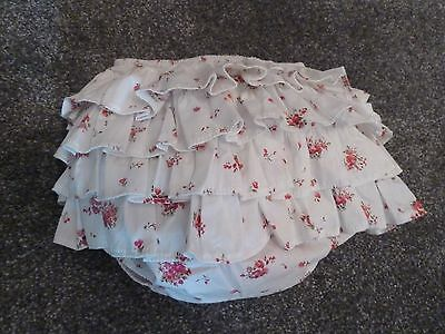 girls frilly pants-handmade in size 12/18 months floral FREE headband