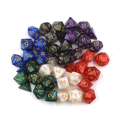 7pcs/lot  Sided Gem Dice Die for RPG Dungeons & Dragons DND D&D Set White