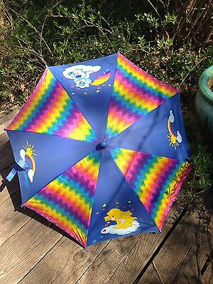 Vintage 1980s - Original Care Bears Kids Umbrella Rainbow Sunshine Grumpy Cheer