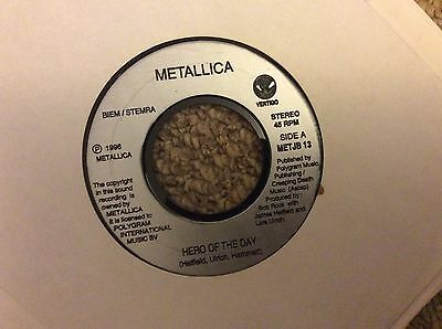 "Metallica-hero For A Day-7"" Dj Promo/demo Single-limited-rock-metal-classic"