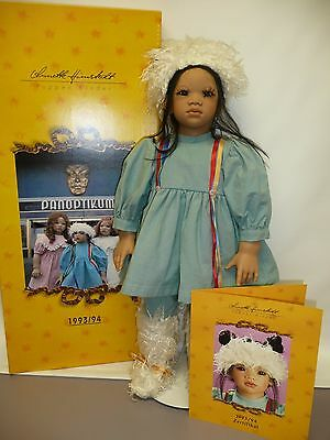"""26"""" Annette Himstedt Doll Kima in Excellent Condition w/Box & COA from 1993/94"""