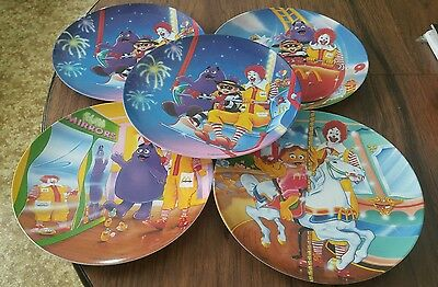 Ronald McDonald Carnival Plates 1993 (Set of 4)+1 Dup