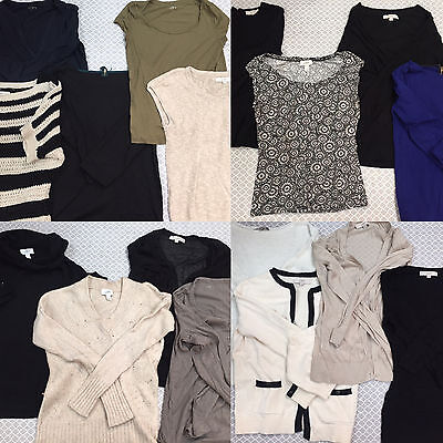 Lot of 17 Ann Taylor The LOFT Wardrobe Blouse Top Shirt Sweater Cardigan M Med