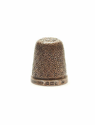 Antique George V Birmingham 1926 HG&S 925 Sterling Silver SEWING THIMBLE 3.1g