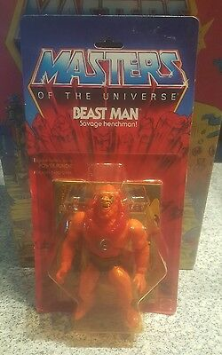 Vintage Mattel MOTU He-Man BEAST MAN 12 Back MOC Selling Collection