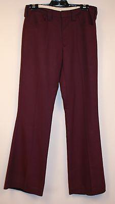 "MENS PURPLE ORIGINAL VINTAGE 1970s FLAIRED PANTS. ""MR STRETCH"" W 31"" / 79CM."