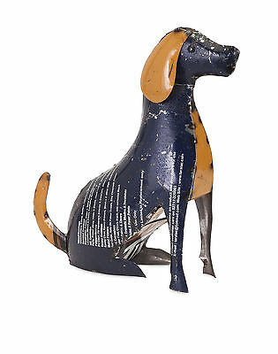 Imax Pedro the Pup Sculpture in Reclaimed Metal 47746