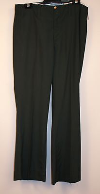 NEW MENS GREEN ORIGINAL VINTAGE 1970s FLAIRED PANTS. BEL-AIR SLACKS SIZE 5 32""
