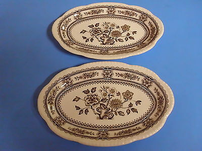 Lot Of 2 Serving Trays Wood + Son Dorset 8 5/8 X 5 3/4 Inches